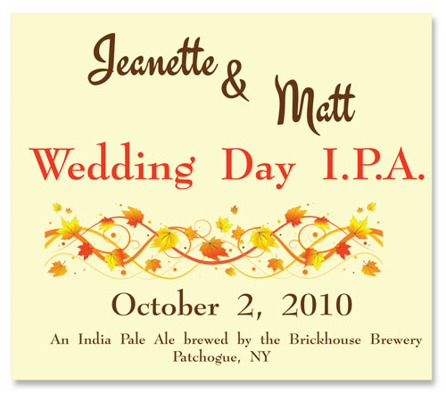 Beer Label India Pale Ale Number 19 of 20 of Our Must See Wedding Beer Labels