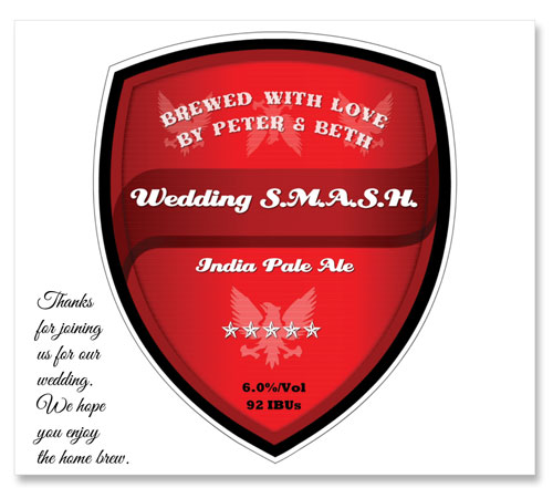 Beer Label SMASH Number 20 of 20 from Our Must See Wedding Beer Labels