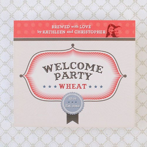 Beer Label Welcome Party Wheat Number 14 of 20 of our 20 Must See Beer Labels