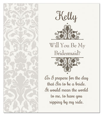 Custom Wine Label Will You Be My Bridesmaid?