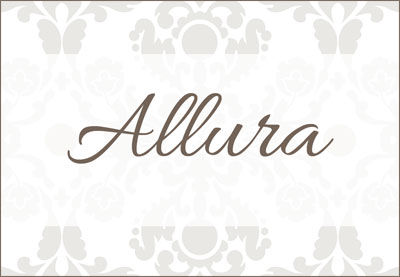 Allura is a script font we recommend to make wedding labels.