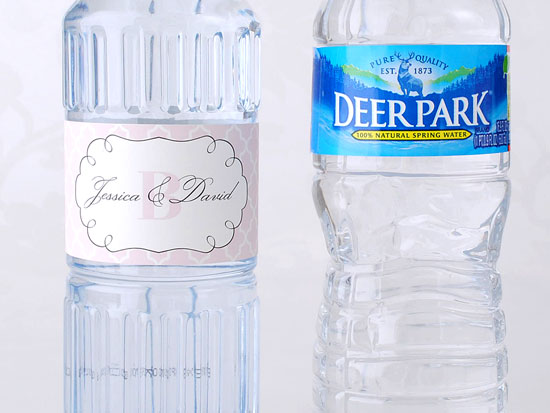 Which would you rather serve at your wedding a custom label wedding water or a national brand?