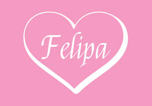 Felipa font for wedding labels