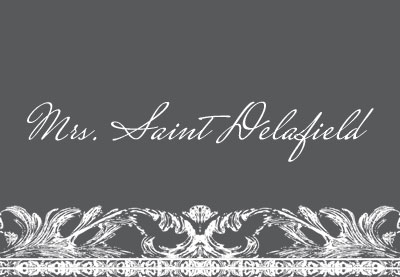 Mrs. Saint Delafield is a handwritten script font