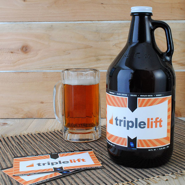 Custom growler labels are available in 4 inches high by 6 inches wide for home brewers.