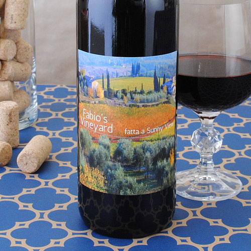 Photo turned into wine label.