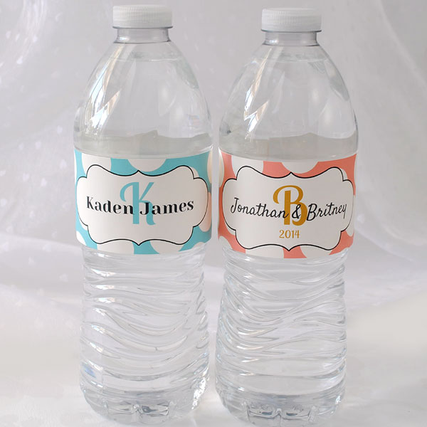 Modify a template for your custom wedding water bottle label.
