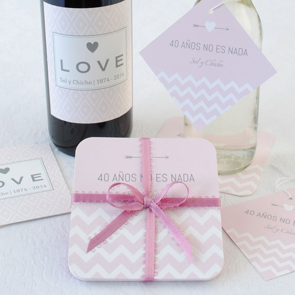 Coordinate your anniversary party favors with one stop shopping at Bottle Your Brand.