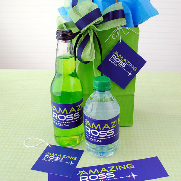 Bar Mitzvah party favors with a custom design.