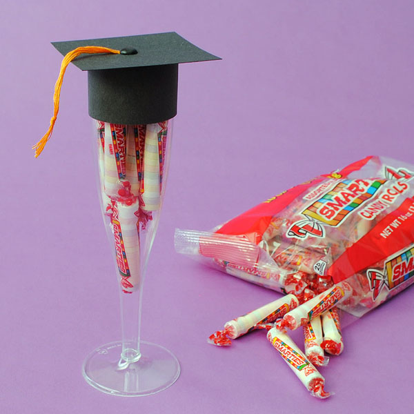 Champagne flute party favors for Graduation.