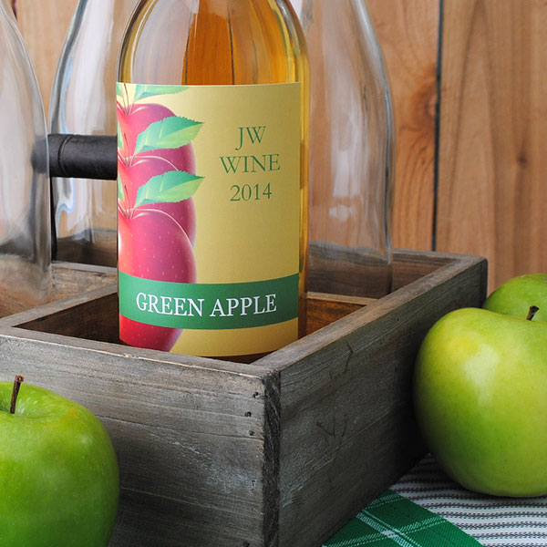 Green Apple Wine with Custom Label