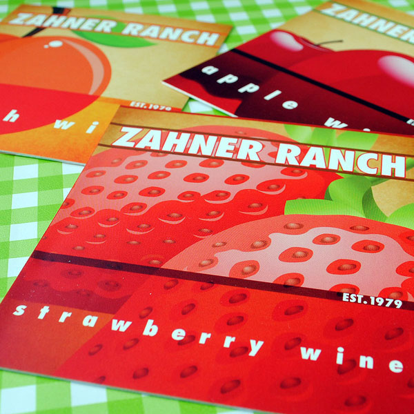Custom wine labels for making fruit wine