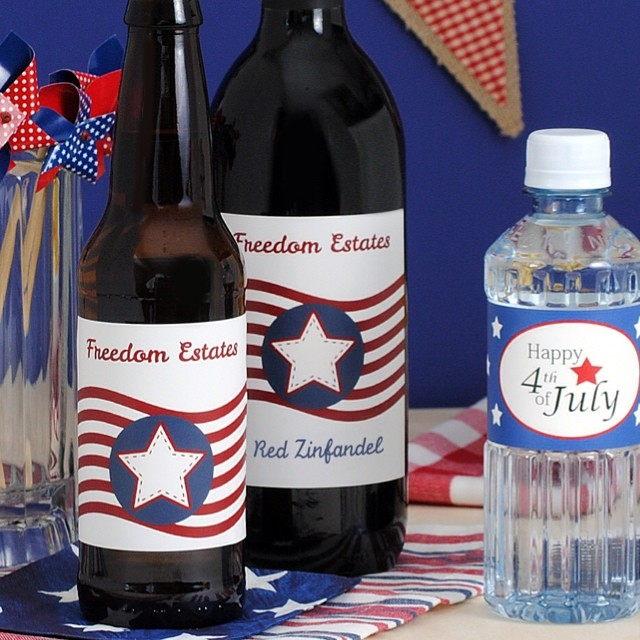 Happy Independence Day! #fourthofjuly #freedom #celebratewithwine #beerlover #customlabels #july4