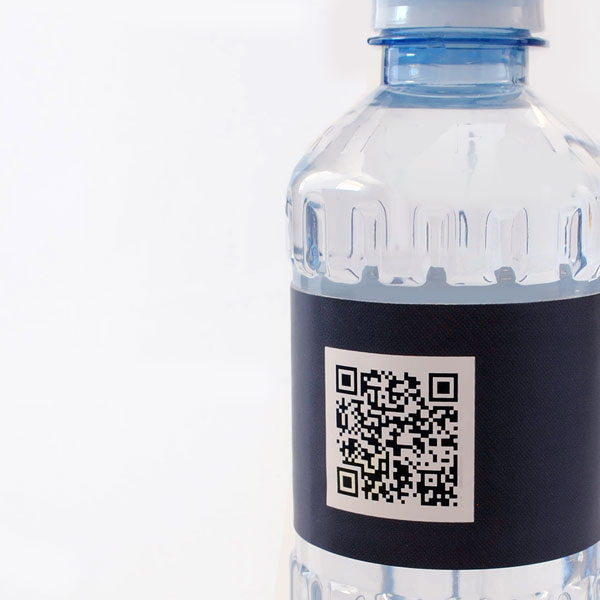 Use a QR code on your bottled water