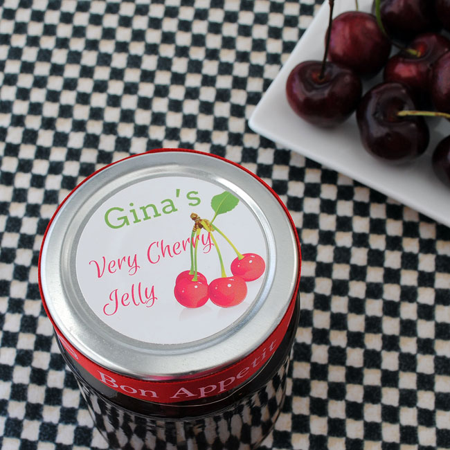 Make your own jelly jar circle sticker