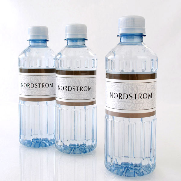 Nordstrom custom bottled water