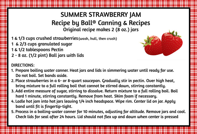Summer Strawberry Jam Recipe by Ball ®