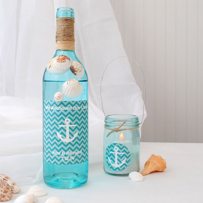 Anchor wine label and favor sticker.