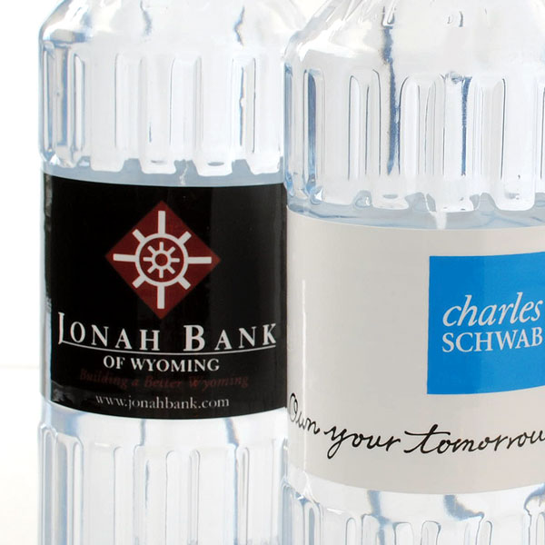Logo bottled water for banks and financial businesses