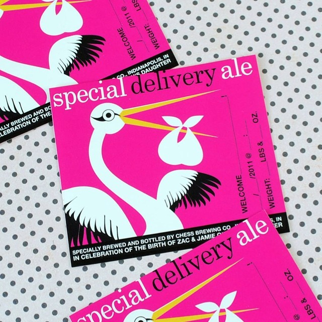 Special delivery in your future? Make your own #birthannouncements  #newbaby #ale #homebrew #adorable #newborn #babylove #bundleofjoy #brewking #brewer #beerlover #beerlabels #cute #instagood