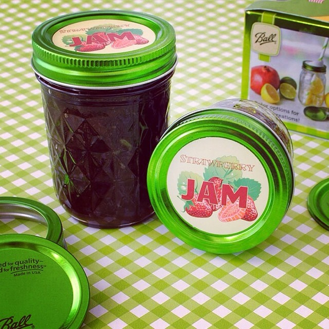 Try your hand at making jam.  Hand out to your friends and family with your custom label attached. #jam #canning #taste #customlabels #custom #bottleyourbrand