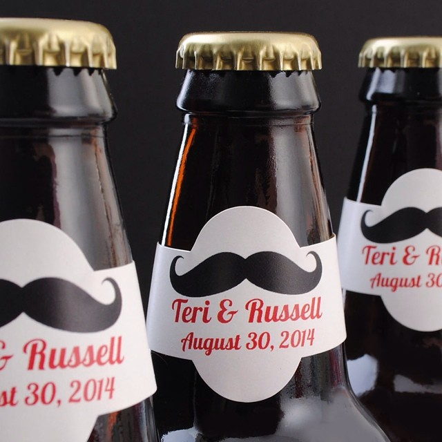 Wedding beer bottle neck labels. Customize yours now! #weddingbeer #beergear #beerphotos #beerculture #beerlover #beergeek #instabeer #homebrewer #beerporn #weddingbrew