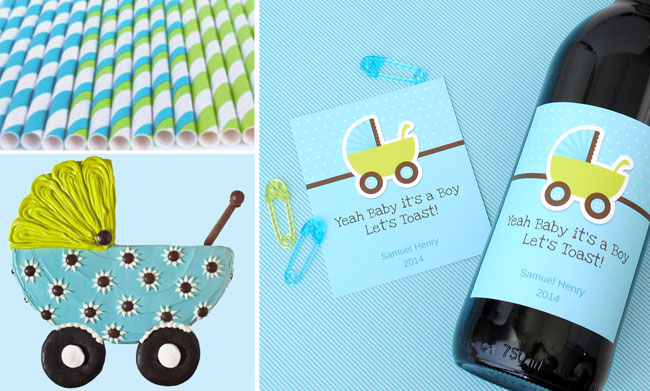 Baby-Buggy-theme-shower-for-baby-boy