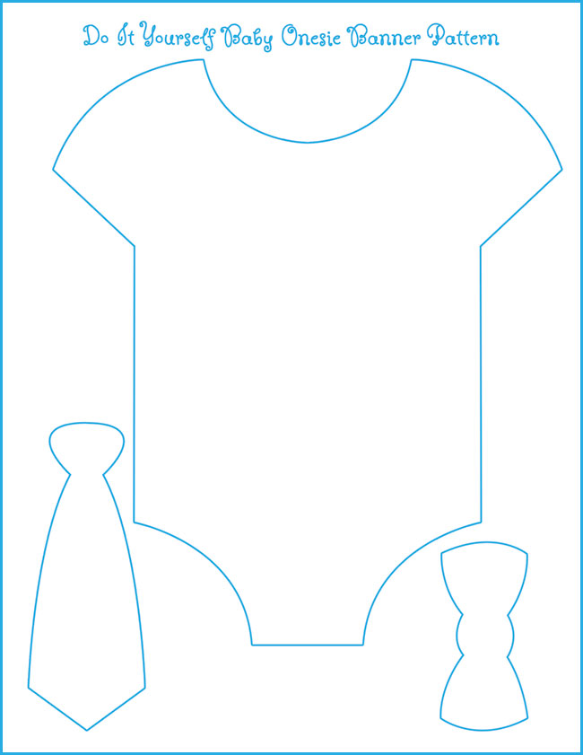 Free Downloadable Baby Onesie Banner Template