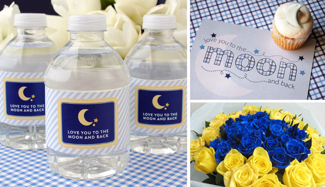 love you to the moon and back gender neutral baby shower theme