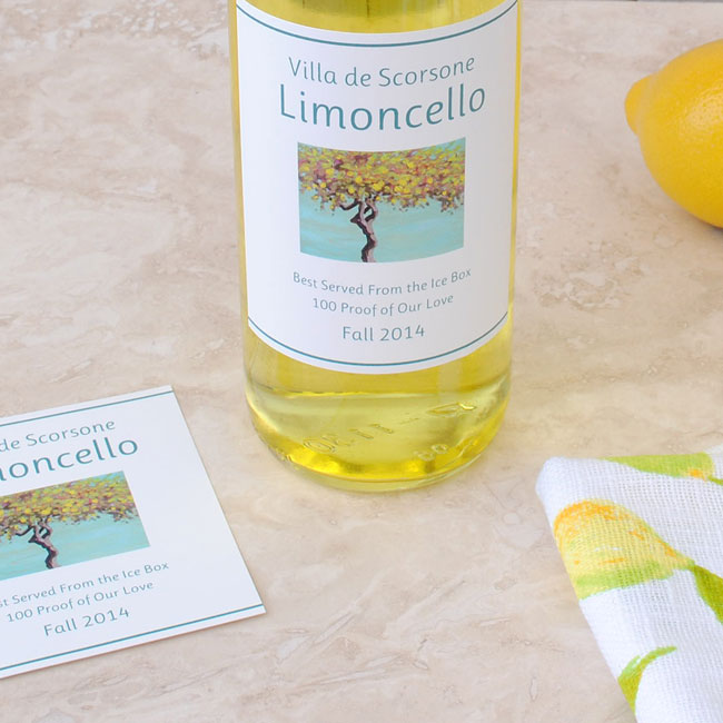 Make your own limoncello label