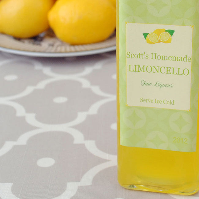 A popular Limoncello label.