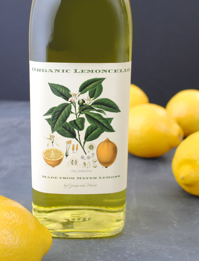 Lemoncello Label for Organic Lemoncello