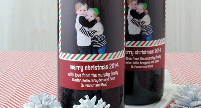 Make a Holiday Wine Label with a Photo: A Tutorial