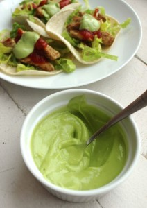 Avocado Sour Cream Dressing