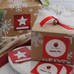 Food Labels Snowflake Boxes