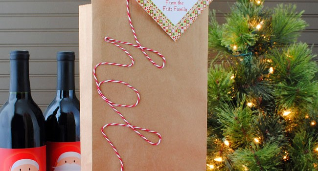 Create a Wine Gift Bag in Ten Minutes or Less