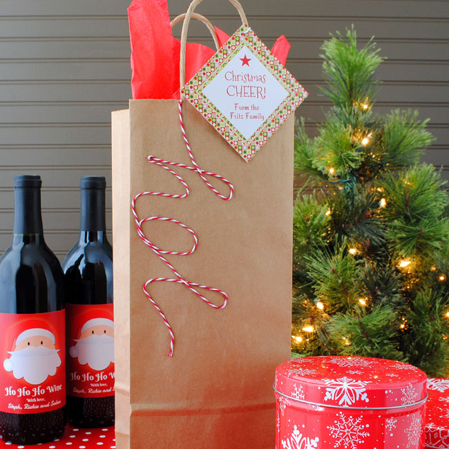 DIY Holiday Wine Tote