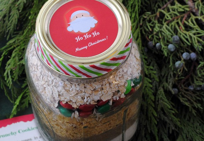 Mason Jar lid Santa sticker