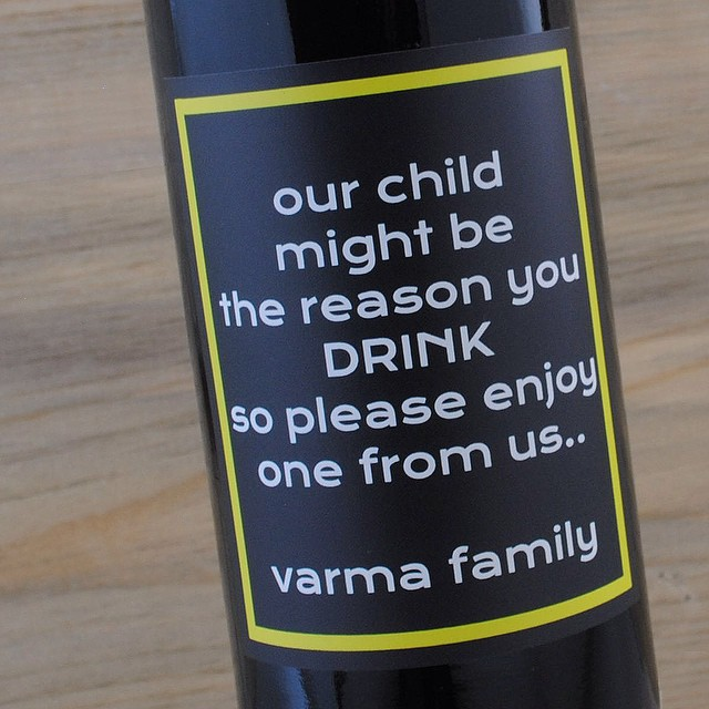 We don't ask any questions, we just print the wine labels. #wildchild #drinkmorewine #pourmeanotherglass #teachergift #problemchild #merlot #cure #winelabels #customlabels #winegift #MerryChristmas #happyholidays #winelover