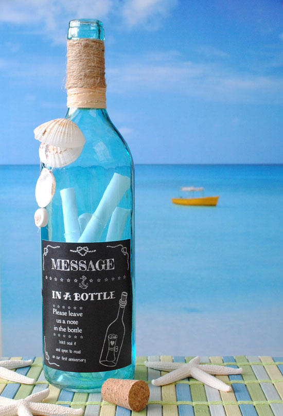 how to put a message in a bottle