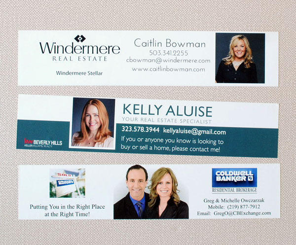 Water Bottle Labels for Real Estate Agents