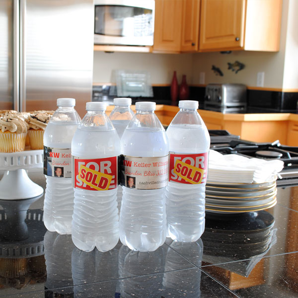 Real Estate Water Bottle Labels