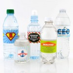 Find the right size water bottle label