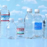 Water bottles with labels removed