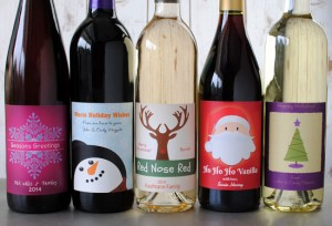 Make Your Own Holiday Wine Labels, Because it's Ridiculously Easy