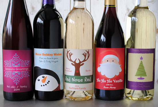 Christmas Wine Labels - Make Your Own