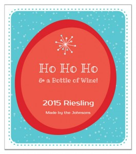 Ho Ho Ho wine label