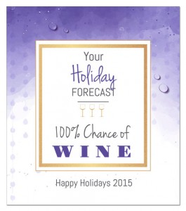 Holiday wine label saying idea