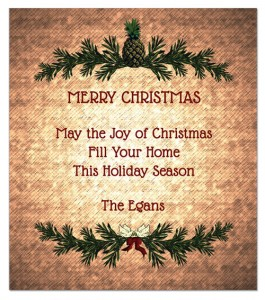 Holiday Wine Label Greeting