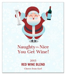 Santa's List wine label